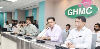 Minister ktr meeting with ghmc officers