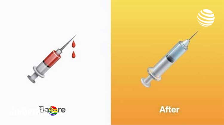 apple changed syringe emoji design in support to vaccination drive
