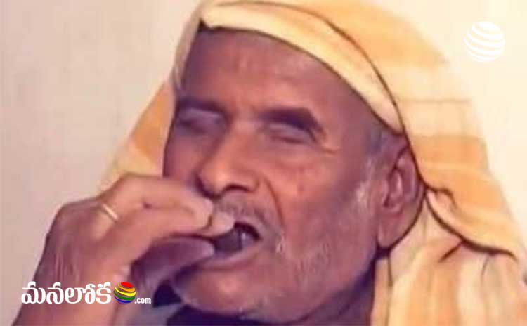 man eating stones from 32 years