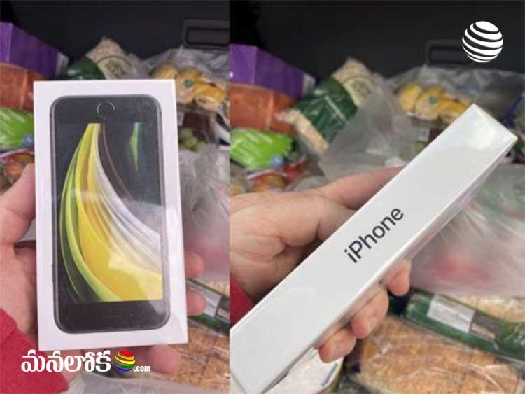man ordered bag of apples but got iphone se