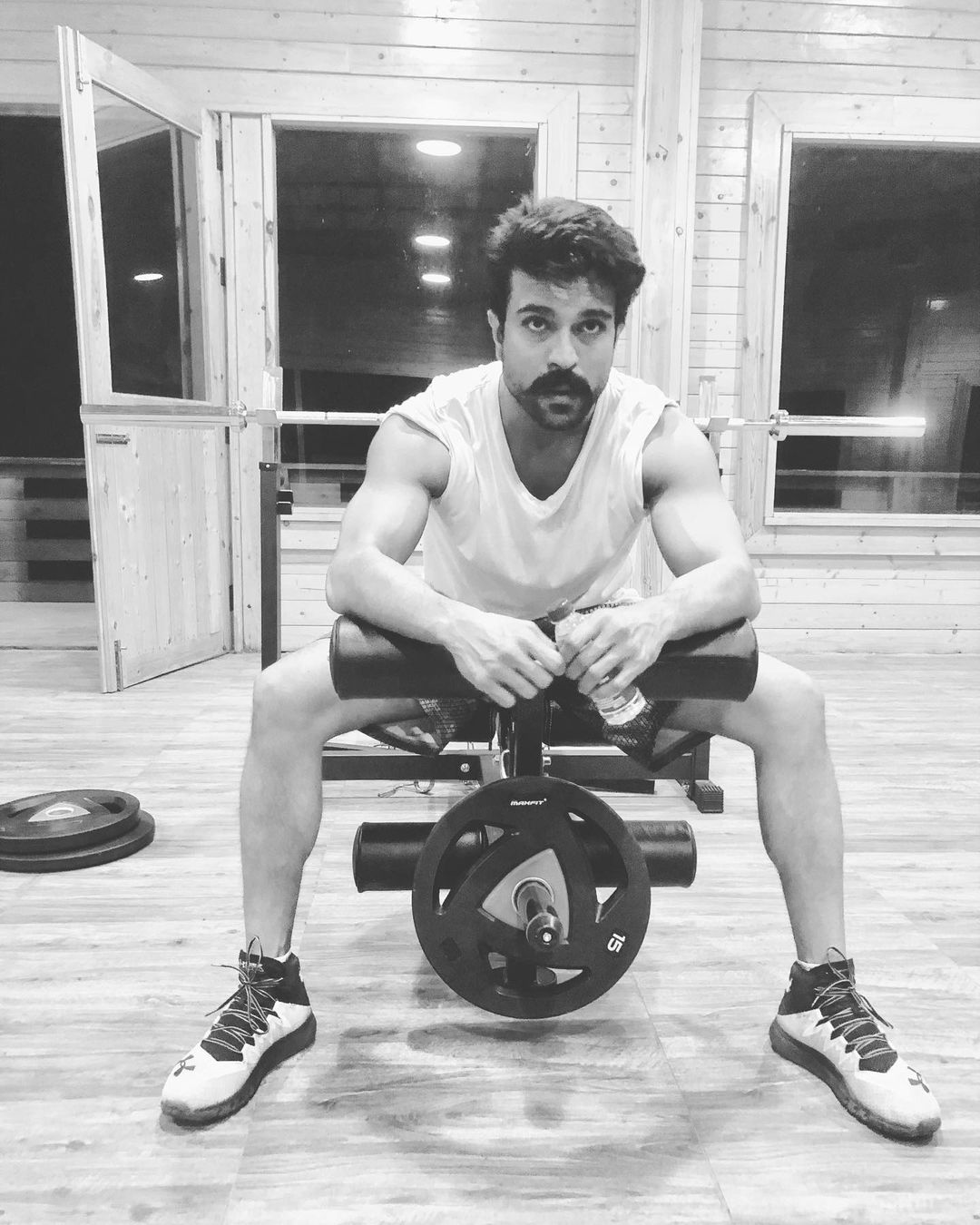 Ram Charan Strong Morning Gym Workouts Pic